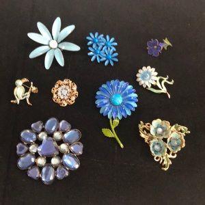 Jewelry - 9 Vintage Pins